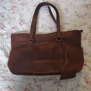 Lucky Brand leather tote bag